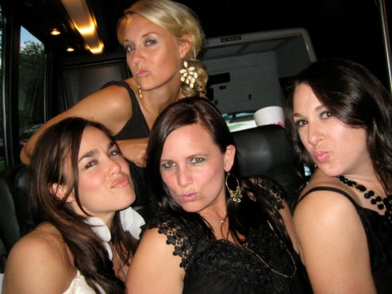 A party bus dancing photo, this may have been the night I decided we could be best friends forever.