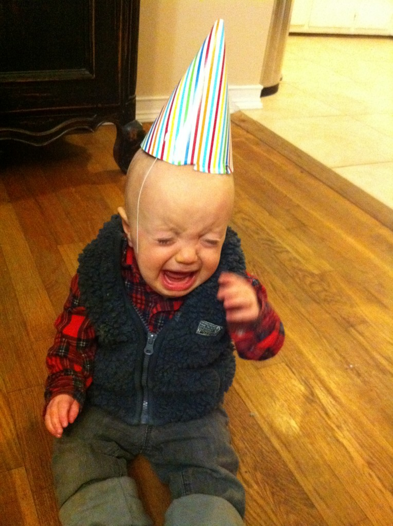 Shep's first birthday. We like to set the bar low.