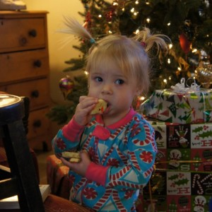 Char's favorite Christmas present was the left over Santa cookies.